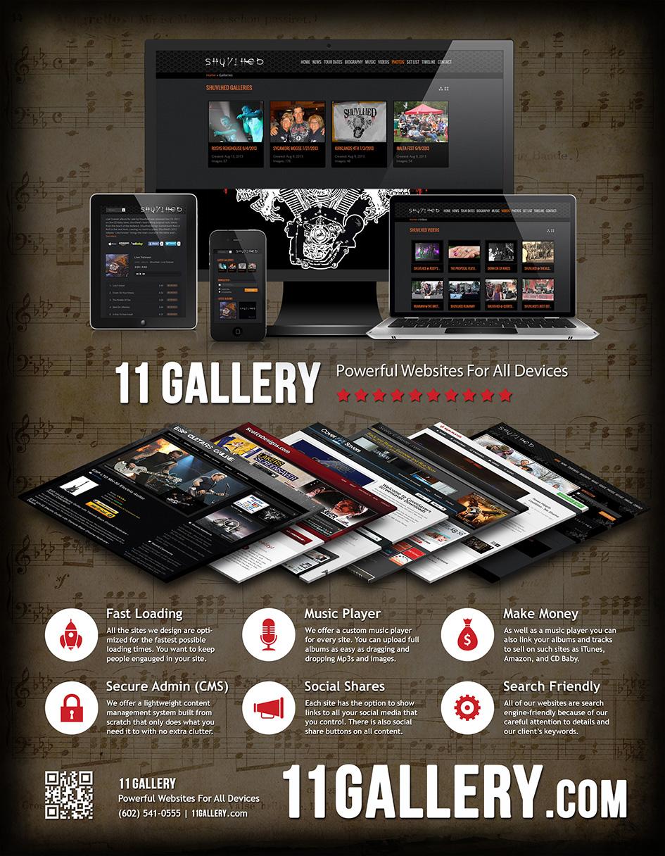 11 Gallery, 11gallery.com web design flyer