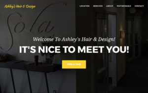 Completed Another Website – Ashley's Hair & Design (We Traded Services)